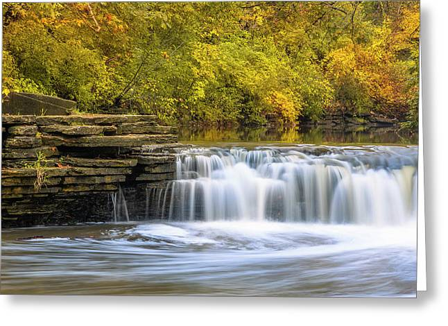 Greeting Card featuring the photograph Waterfall Glen, Lemont, Il by Adam Romanowicz