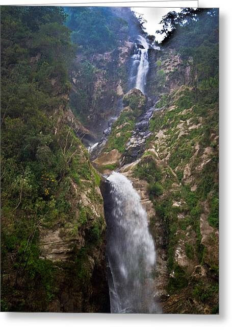 Waterfall Highlands Of Guatemala 1 Greeting Card