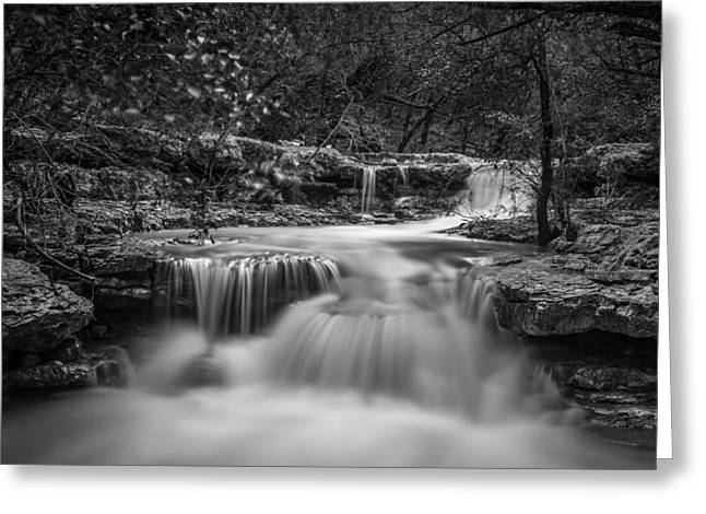 Waterfall In Austin Texas - Square Greeting Card
