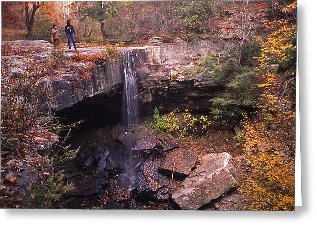 Waterfall In Fall - 1 Greeting Card by Randy Muir