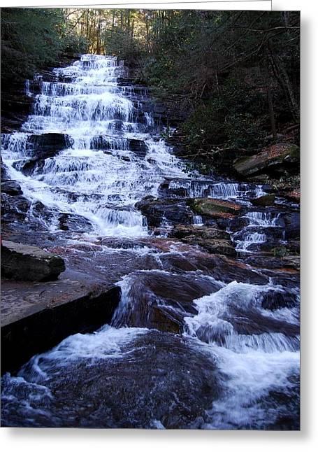 Waterfall In Georgia Greeting Card by Angela Murray