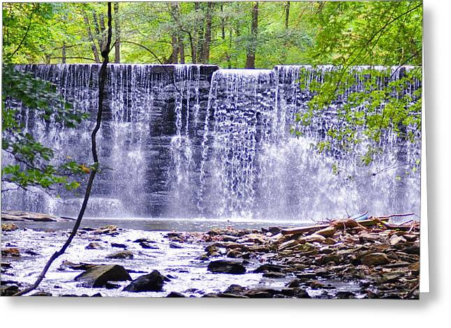 Waterfall In Gladwyne Greeting Card by Bill Cannon