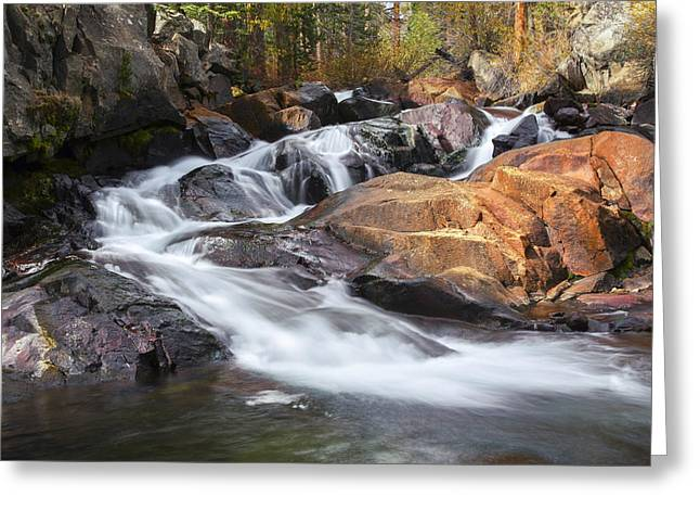 Waterfall In Lee Vining Canyon 2 Greeting Card