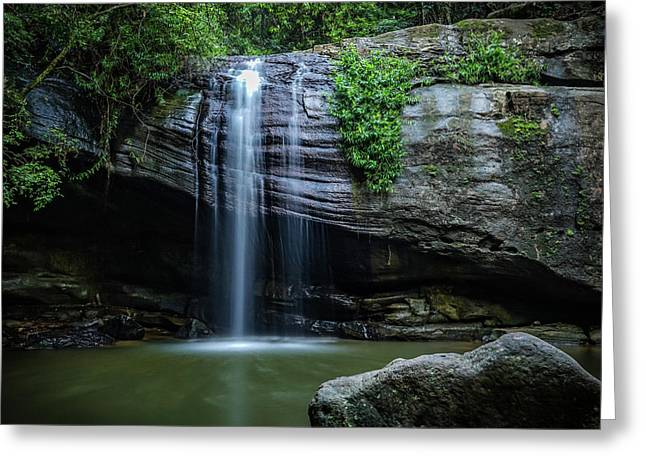 Greeting Card featuring the photograph Waterfall In Paradise by Keiran Lusk