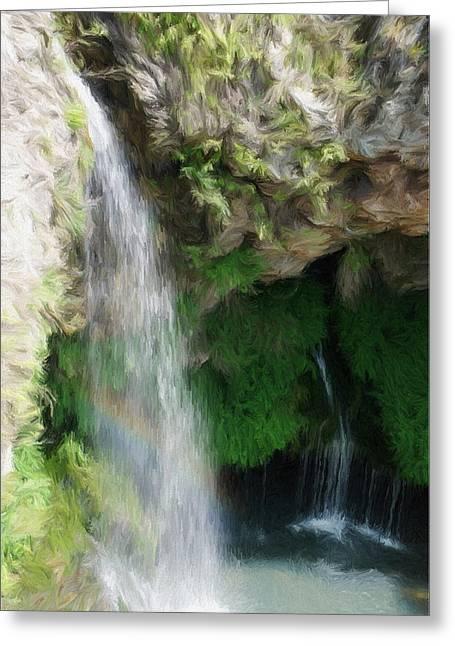 Waterfall Greeting Card by Jeff Kolker