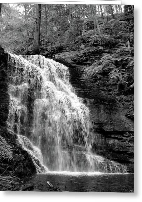 Waterfall Greeting Card by Jessica Dandridge