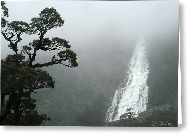 Waterfall Greeting Card by Joe Bonita