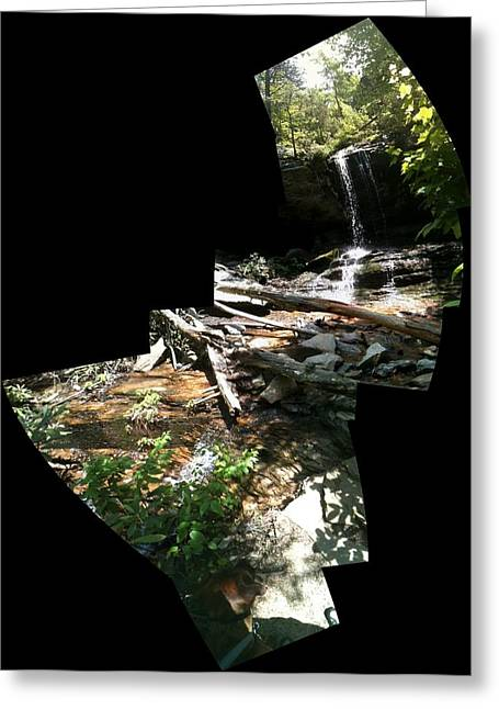 Greeting Card featuring the photograph Waterfall by John Gibbs
