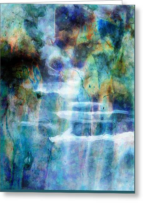 Waterfall Greeting Card by Kathie Miller