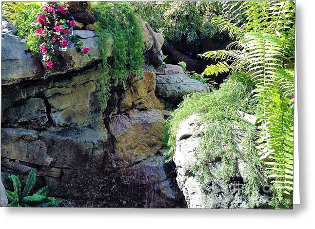 Waterfall Landscape 2 Greeting Card by Gina Sullivan