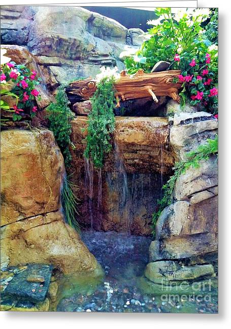 Waterfall Landscape 3 Greeting Card by Gina Sullivan