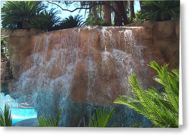 Waterfall Las Vegas Nevada Greeting Card by Alan Espasandin