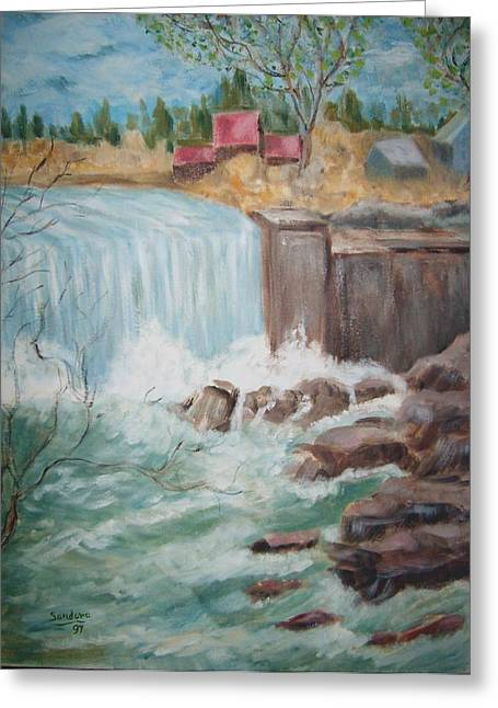 Waterfall Lw Greeting Card by Joseph Sandora Jr