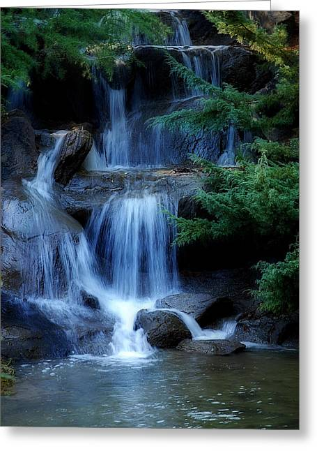 Waterfall Greeting Card by Marion McCristall