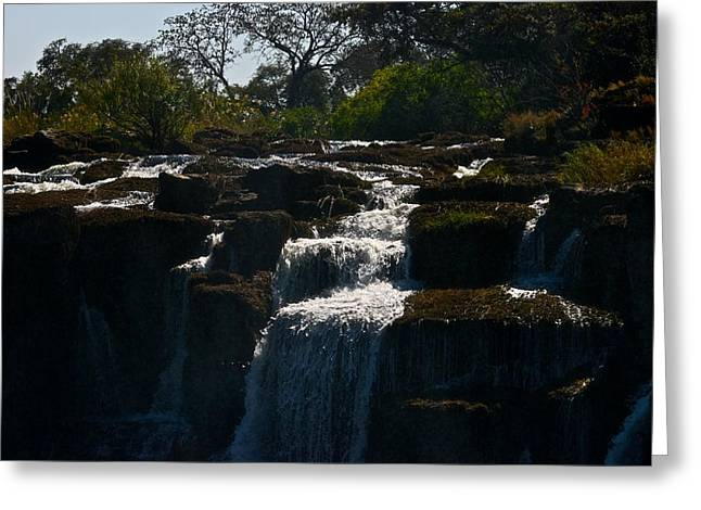 Waterfall Greeting Card by Miranda  Miranda