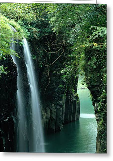 Waterfall Miyazaki Japan Greeting Card