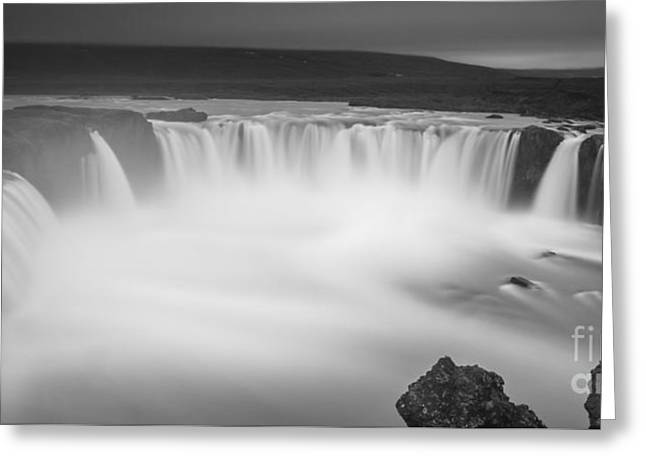 Waterfall Of The Gods Iceland Greeting Card