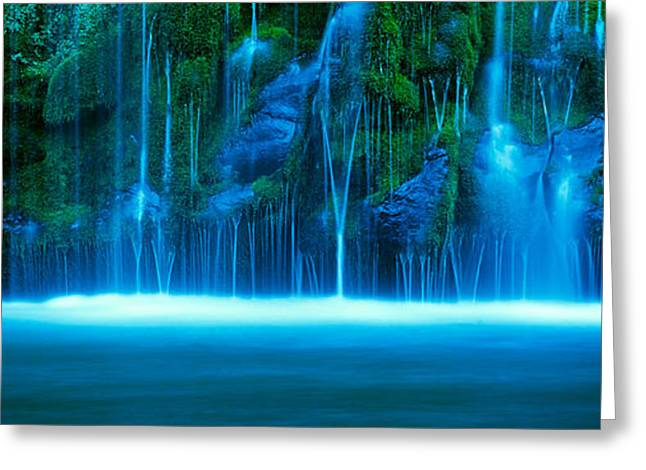Waterfall On A Cliff, Mossbrae Falls Greeting Card