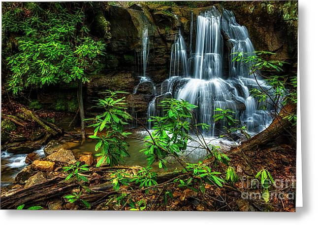 Waterfall On Back Fork Greeting Card