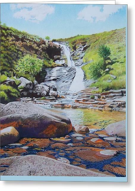 Waterfall On Skye 2 Greeting Card