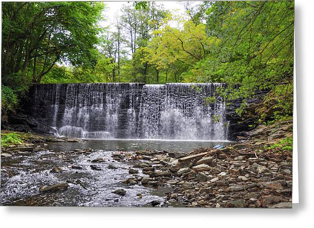 Waterfall On The Main Line - Gladwyne Pa Greeting Card