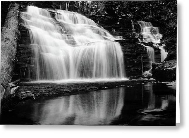 Waterfall Reflection Greeting Card