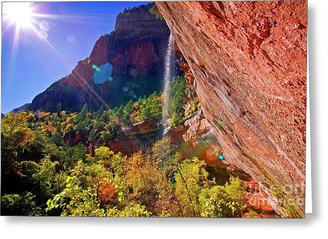 Greeting Card featuring the photograph Waterfall by Scott Kemper