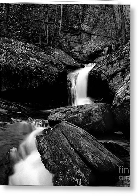 Great Smokey Mountains Greeting Cards - Waterfall-Smokey Mountain National Park Greeting Card by Arni Katz