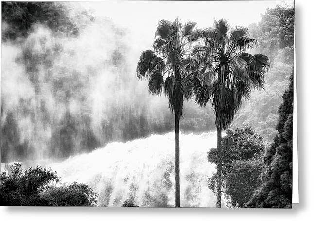 Waterfall Sounds Greeting Card by Hayato Matsumoto