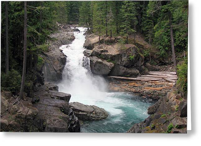 Waterfall Greeting Card by Ty Nichols