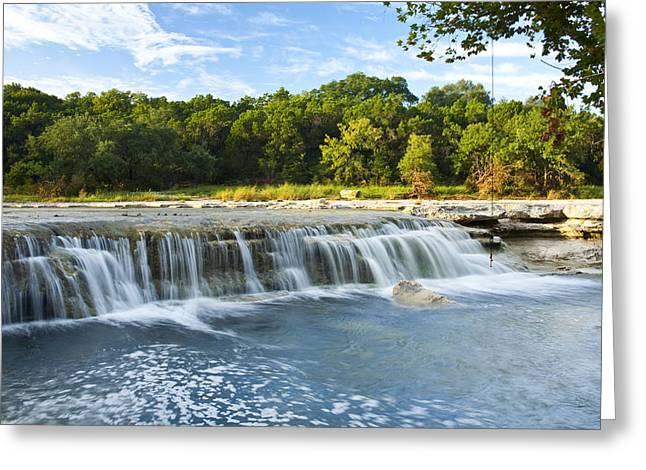 Waterfalls At Bull Creek Greeting Card by Mark Weaver