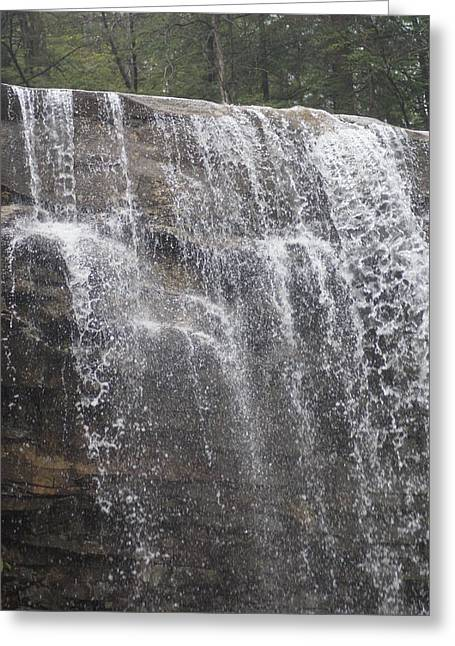 Waterfalls Greeting Card by Heather Green