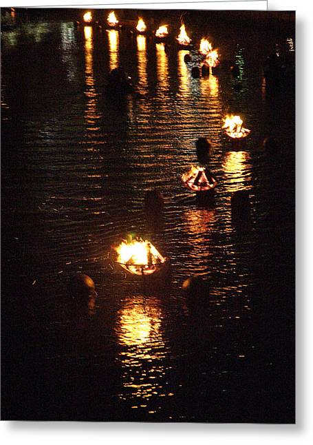 Waterfire Lights Greeting Card