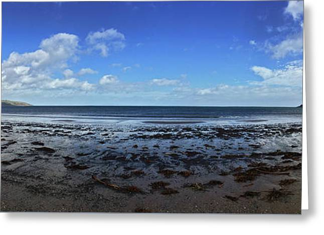 Greeting Card featuring the photograph Waterfoot Beach Panorama by Colin Clarke