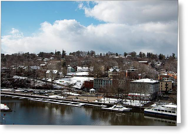 Waterfront After The Storm Greeting Card by Jeff Severson
