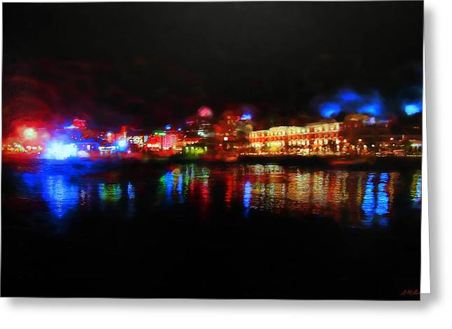 Waterfront Aura Greeting Card