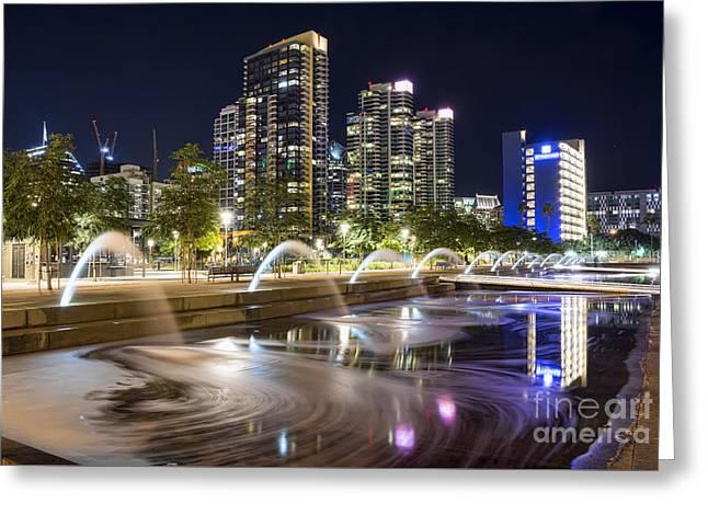 Waterfront Park Greeting Card by Eddie Yerkish