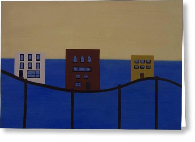 Waterfront Property Greeting Card by Sandy Bostelman