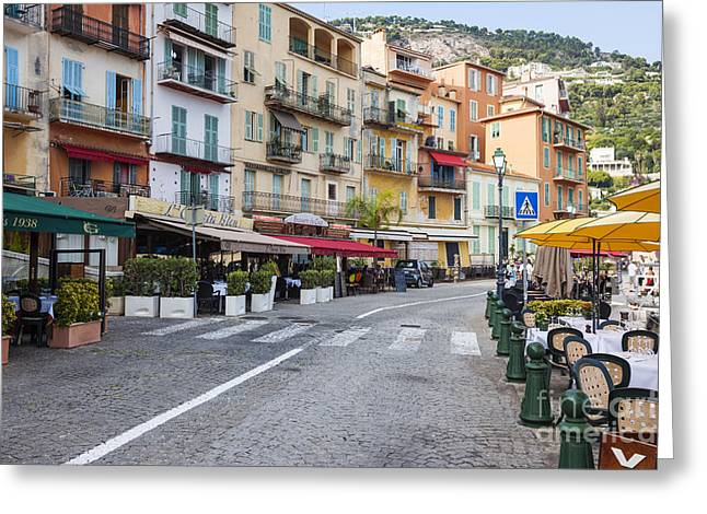 Waterfront Restaurants In Villefranche-sur-mer Greeting Card