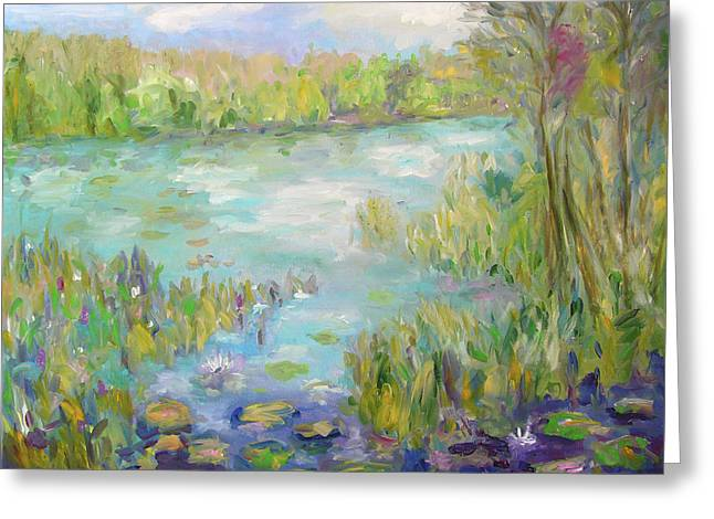 Greeting Card featuring the painting Waterglades Park Florida by Barbara Anna Knauf
