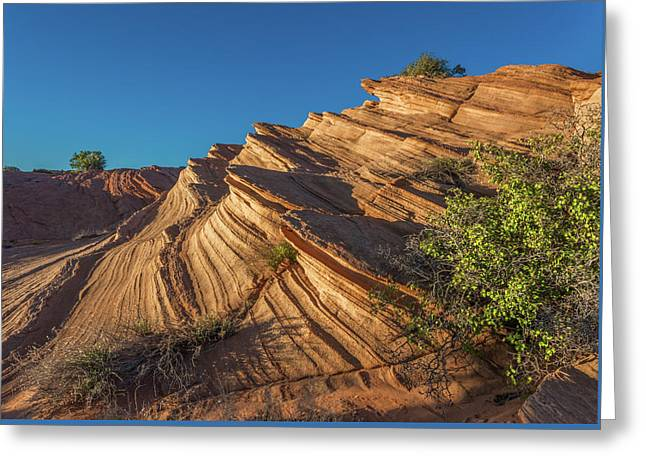 Waterhole Canyon Rock Formation Greeting Card