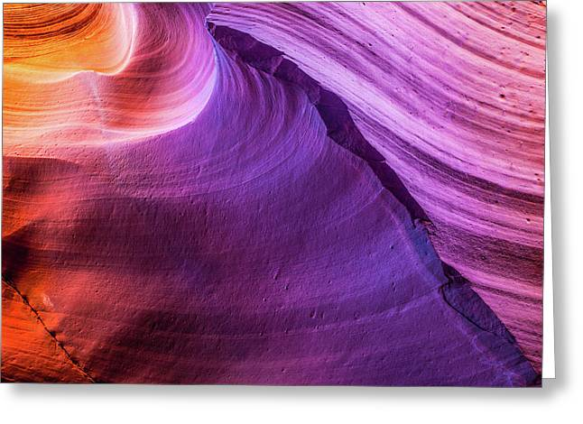Waterhole Canyon Wave Greeting Card