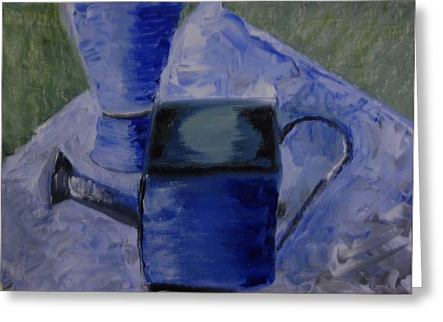 Watering Can Greeting Card by Michele Flannery
