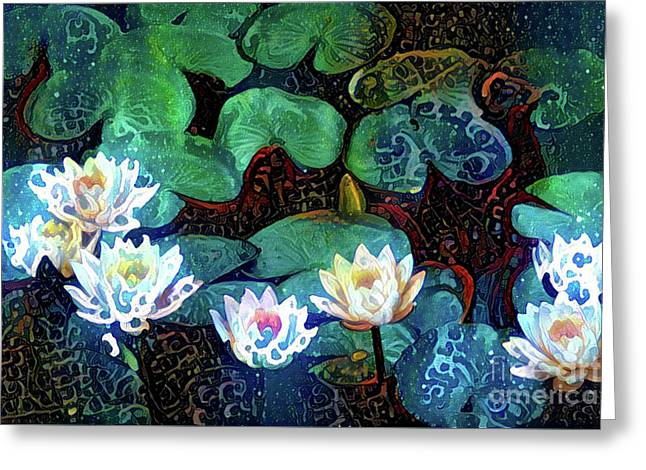 Waterlilies 17 Greeting Card by Amy Cicconi