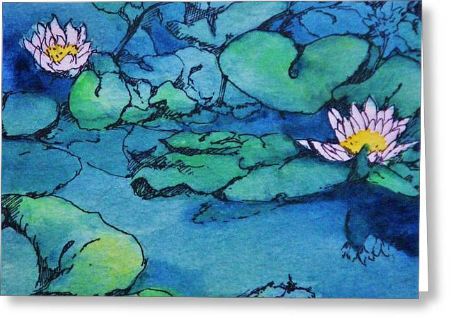 Waterlillies Greeting Card