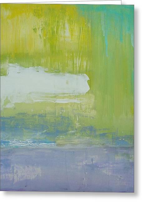 Waterlilly Greeting Card by Ora Birenbaum