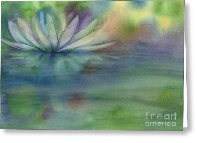 Waterlily Greeting Card by Amy Kirkpatrick
