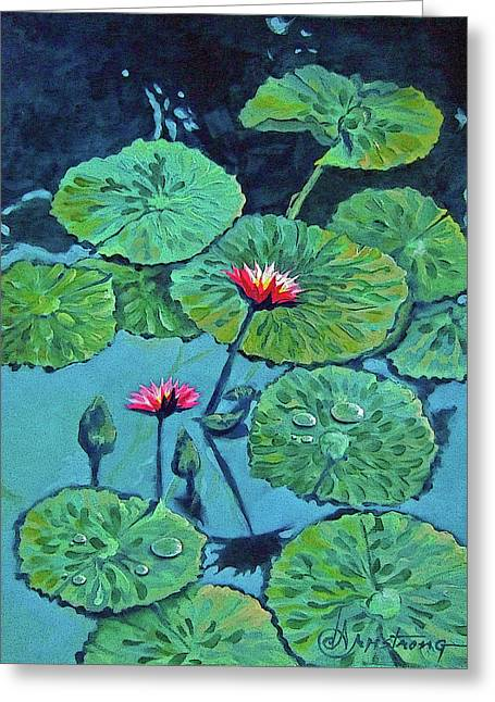 Waterlily Greeting Card by Denise Armstrong