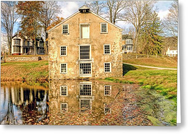 Waterloo Village Greeting Card by Geraldine Scull