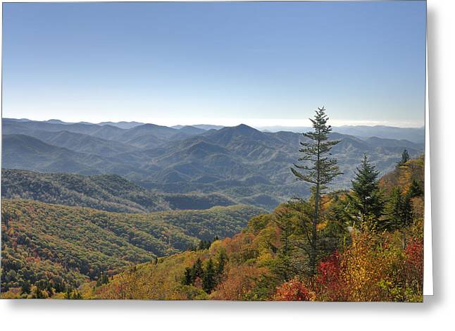 Waterrock Knob On Blue Ridge Parkway Greeting Card by Darrell Young